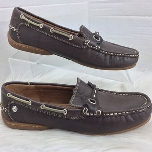 Sperry Top-Sider Brown Leather Loafers Sz 8M